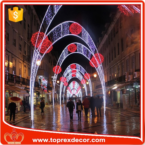 Outdoor Led Christmas Street Decoration Led Arch Motif Lights