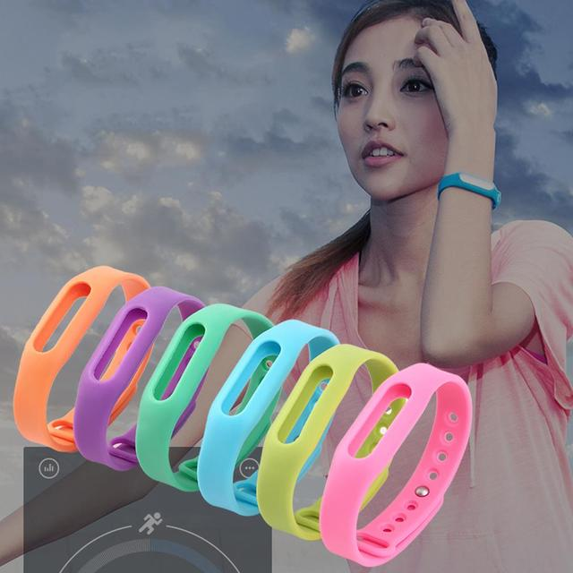 Colorful Silicone Replacement Wrist Band Bracelet Wrist Strap Wristband Belt Protective Case For Xiaomi Smartband Mi Band Miband
