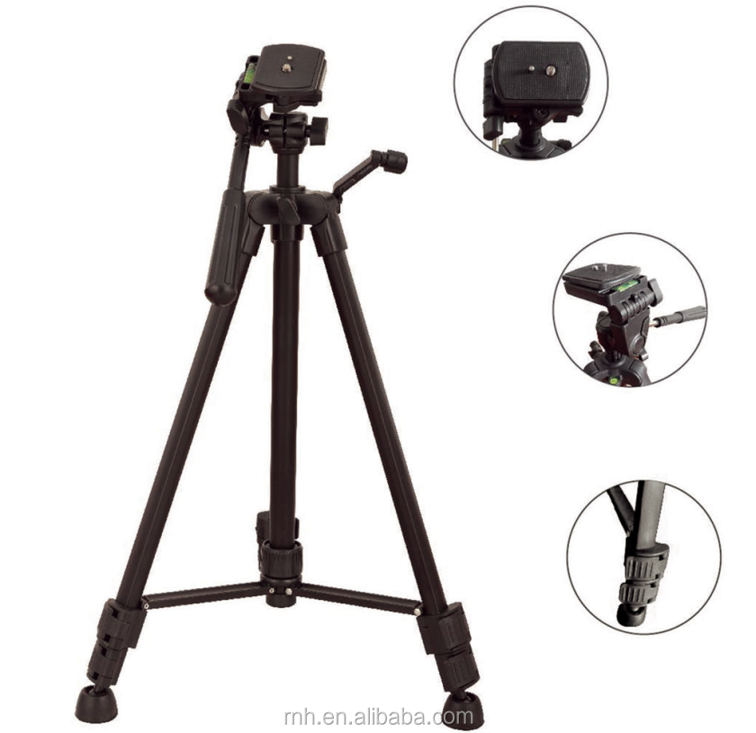 3 way head tripod High Quality Smartphone Mobile Phone Tripod Heavy duty Factory price for DSLR Video Ball head Tripod
