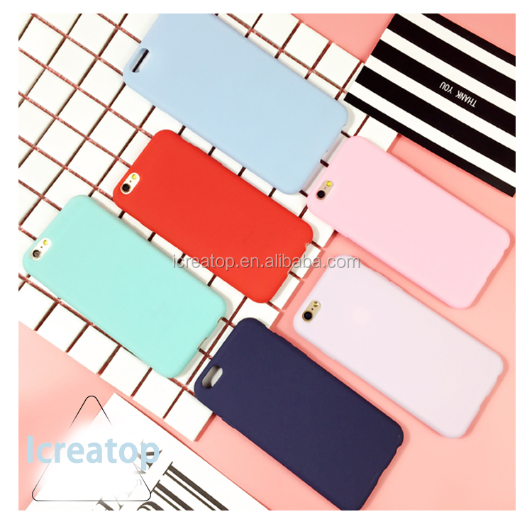 Macarons candy color silicon cell phone case for i phone 7 case, cute phone case for iphone 7