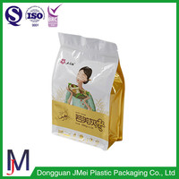 High Temperature Resistance resealable flat bottom clear plastic bags for milk powder