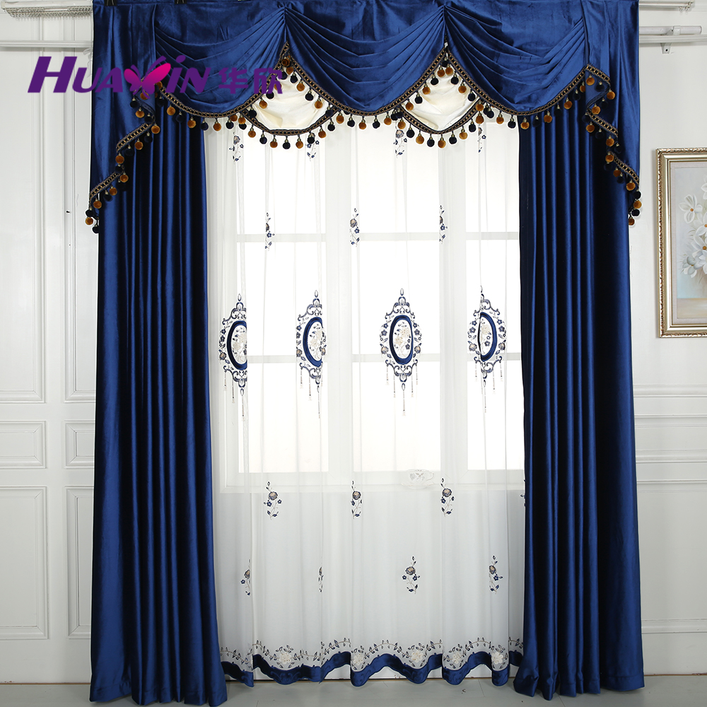luxurious drapes curtains with valance