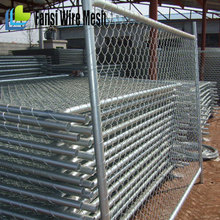 Chain Link Fence Panel Portable 4, 5, 6 High x 10 ft wide asily secured into place for America