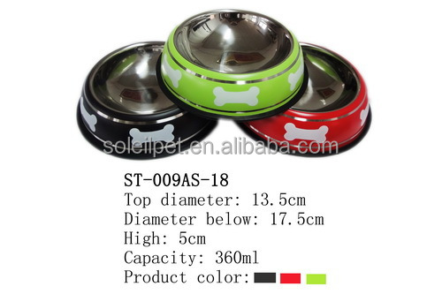 High Quality Wholesale Stainless Steel Dog Bowl With Anti-Slip Base