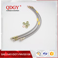 High quality stainless steel braided teflon hose hydraulic brake hose assembly