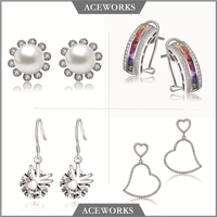 High Quality 925 Silver Earrings 925 Silver Jewelry, Silver Drop Earrings