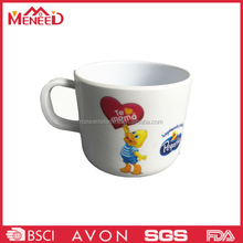 Best selling children like white color hot sale kids plastic rubber mugs