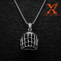 American Football Jewelry 316L Titanium Steel Rugby Cap Shape Interchangeable Stainless Steel Rugby Cap Pendant