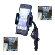 3.1A Dual USB Mobile Phone Car Charger Cigarette Lighter With Holder Function