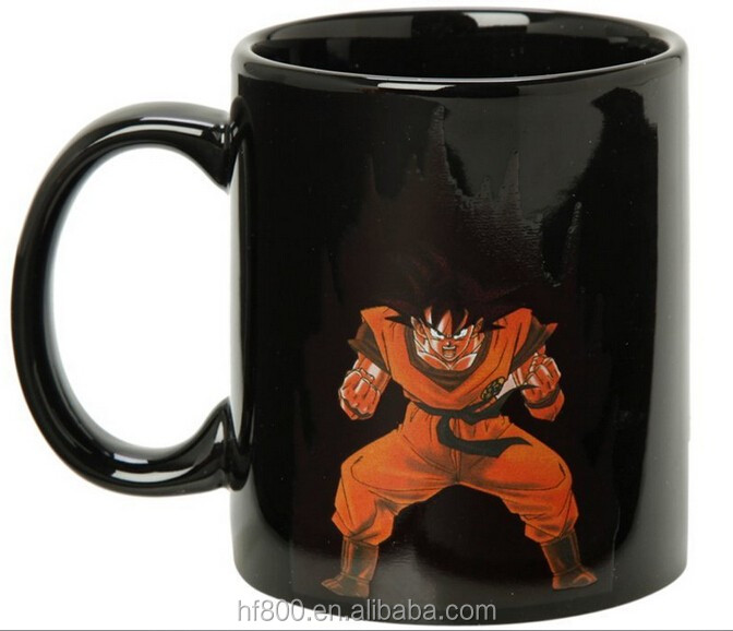 dragon ball color changing goku mug,cartoon with color box