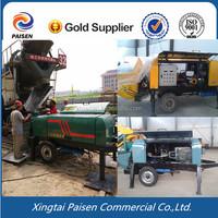 factory price diesel motor trailer concrete pump machine/ construction concrete pump
