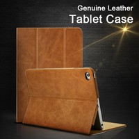2016 New Products Businessman Genuine Oil Wax Leather Tablet Case Cover 7.9 Inch For iPad Mini