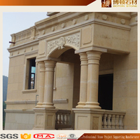 The ancient roman pillar marble column design decoration for outdoor