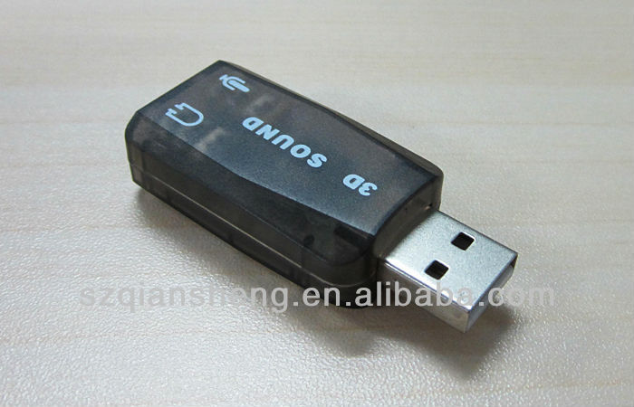 Hot selling Original 3D usb audio sound card adapter , usb 5.1 SOUND CARD