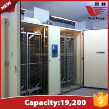 single-stage 19,200 eggs industrial egg incubator for sale