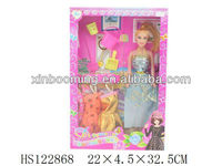 "2013 hot sales 11.5""Solid body lovely fashion doll play set"