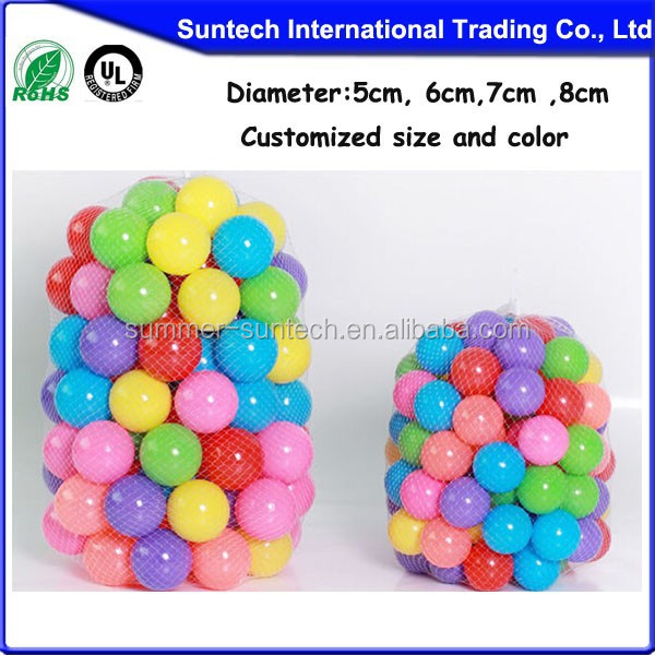 Funny kids toy colorful ocean ball plastic pit ball