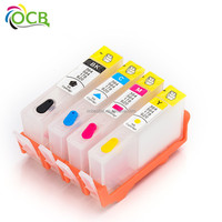 Ocbestjet Best Price For HP 364 Empty Refillable Refill Ink Cartridge For HP Officejet 3070A B209a B210A 5515 B010a B109 Printer