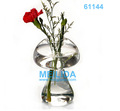 Mushroom curved transparent glass vase