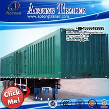 Van Type Station 2/3 Axles Truck Cargo Utility Semi Trailer For Sale