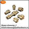hot-selling high precision lathe machine parts knurled brass lock nuts ISO9001/RoHS