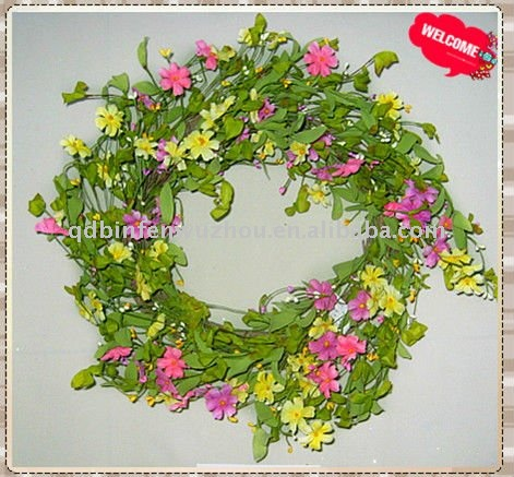 New Style Spring Artificial Wreaths for Outdoor Decoration