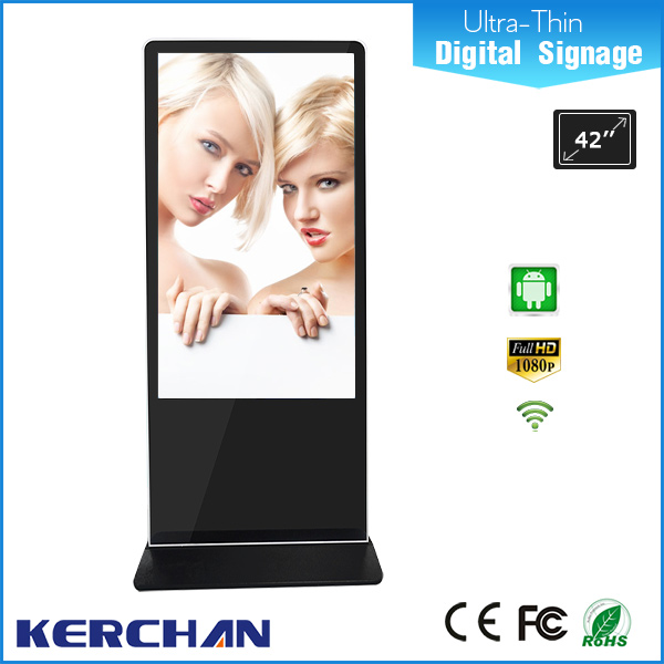 2016 hot 42 inch floor standing Full HD LCD digital advertising media player, lcd touch screen kiosk