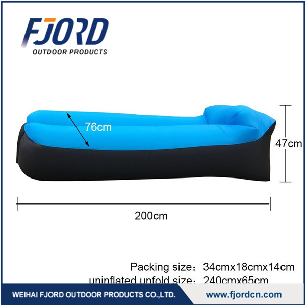 FJORD Fast Inflatable Lazy bag Air Sofas Waterproof Outdoor Camping Sleeping Bag Beach Sofa