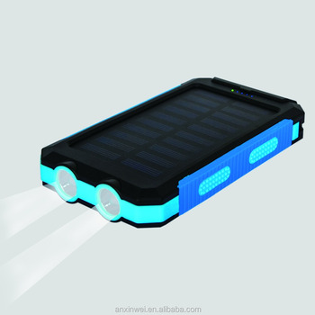 100% waterproof Solar Power Bank 8000mah portable solar phone battery charger solar power bank pokemon power bank