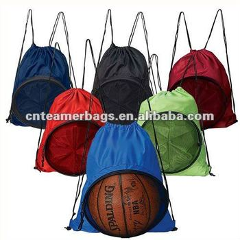 Creative drawstring bocce ball bag for Basketball backpack 210D