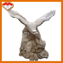 Garden decorative flying stone eagle carvings