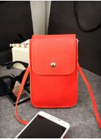 Specialized Hot OEM Colorful Packet Wallet PU Mobile Phone Lady Shoulder Women Leather Bags