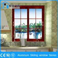 Pleasingly simple design sliding window with aluminum