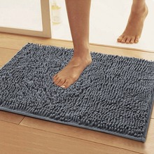 water absorbent washable luxury microfiber chenille bath rug