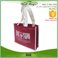 custom chestnut brown recycling non woven fabric 3 bottles Wine beer tote shopping bag