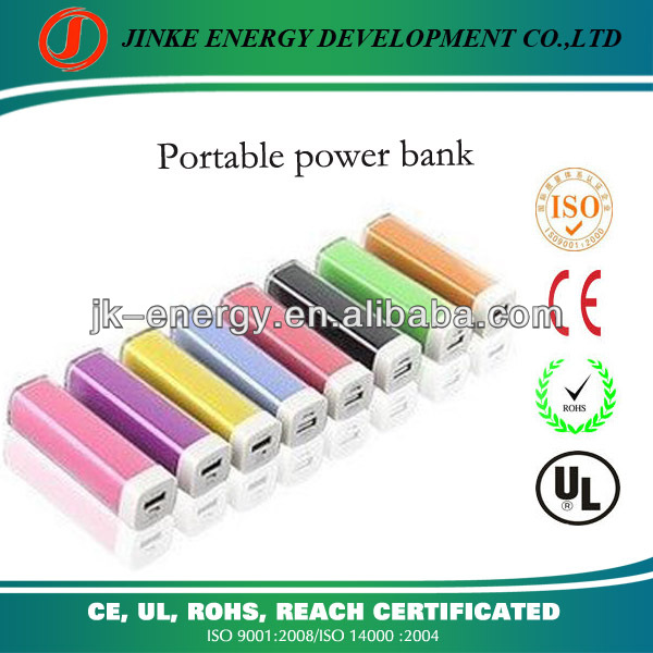 2600ma power bank 2013 best selling lipstick beautiful power bank portable charger 2600mah power banks for cellphones