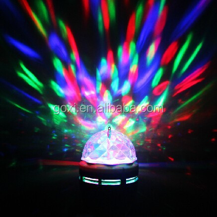 3w rgb Disco Led rotating lamp/lighting E27 base type/rgb led bulb lamp