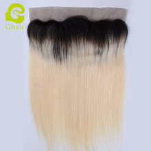 Top Grade 13*4 Ear To Ear Lace Frontal Straight Honey Blonde Ombre 1B/613 Malaysian Remy Human Hair