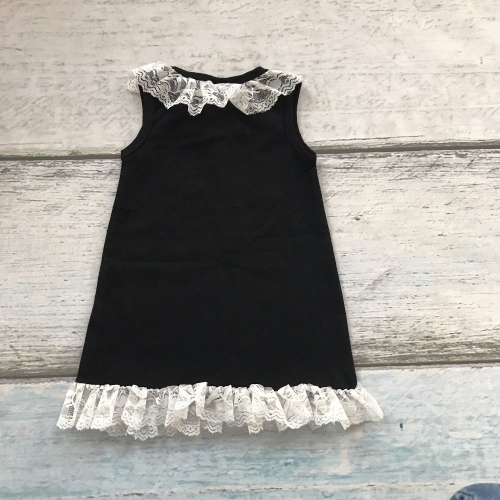 new baby girls clothing black cotton knee-length straight boutique his strength lace dress weakness with match accessories