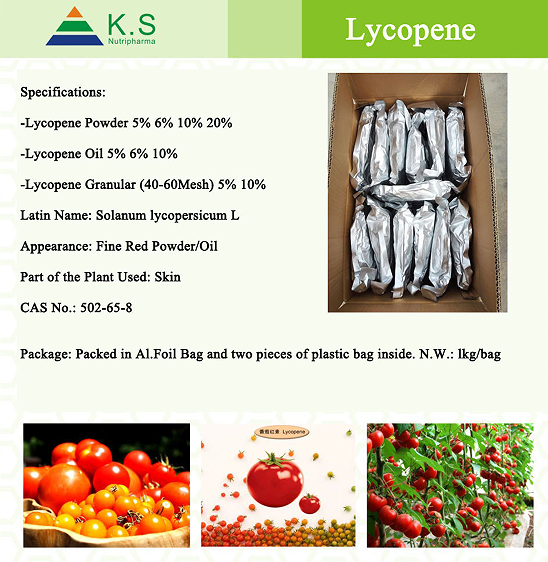 Manufacturer supply Tomato Lycopene powder,Lycopene 5%,Lycopene 10% 20%