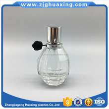 25ml wholesale grenade-shaped bottle free sample with round silver aluminum cap for perfume bottle