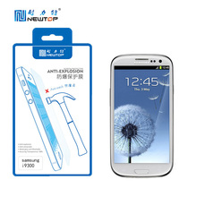 tempered glass blue film screen protector with all colors for samsung I9300