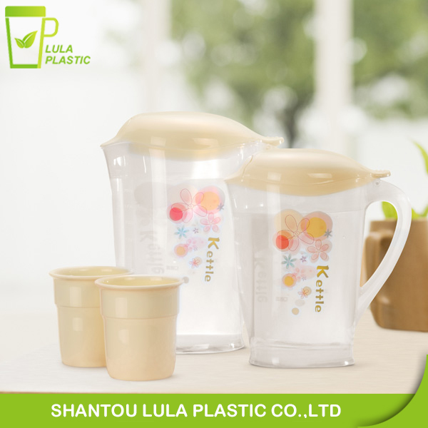 2 L plastic water pitcher with cups,Plastic jug and tea kettle