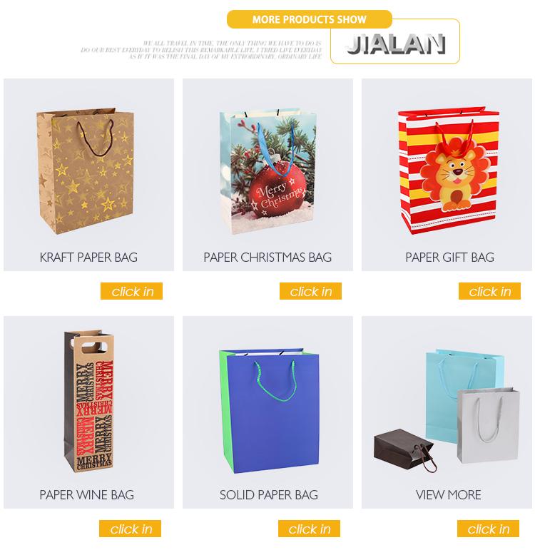 A propaganda relativa à promoção reciclável elegante leva o saco de papel de empacotamento do presente do Natal para o presente de casamento
