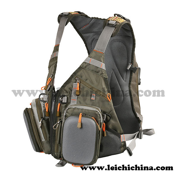 Professional design fly fishing vest backpack