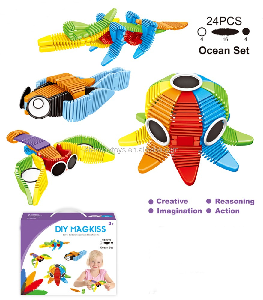 24PCS OF KIDS BLOCK TOYS Ocean Set