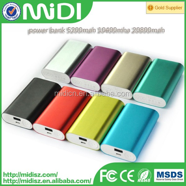 High quality whole sale 5200 mah portable 18650 power bank with CE/ROHS OEM order accepted