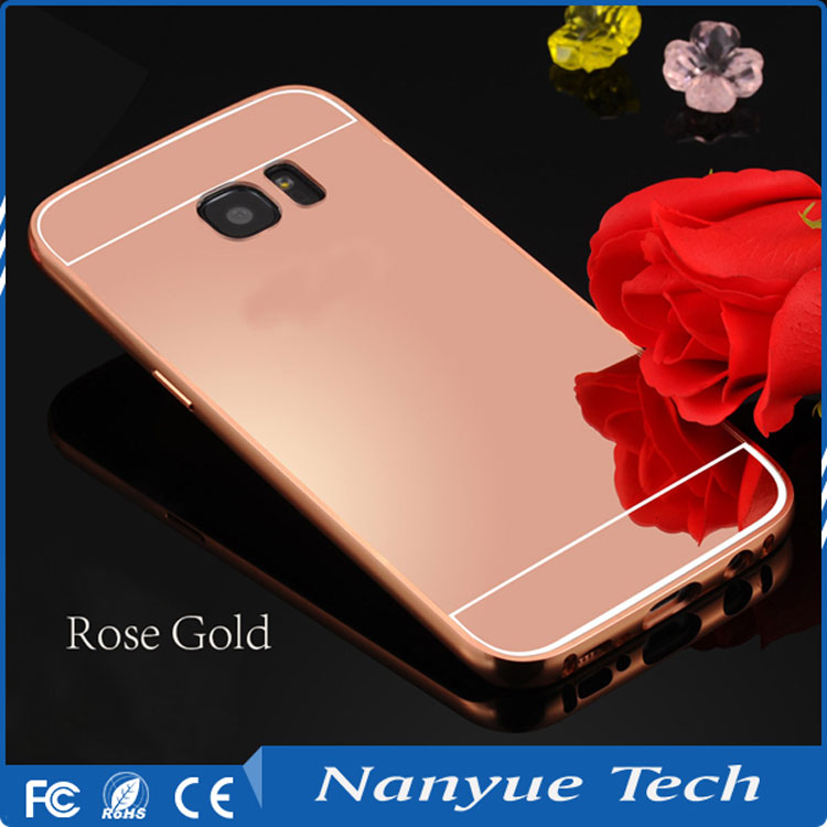 Hot selling MOQ=50pcs mirror cell phone case for Infinix Hot 3 X554, for samsung s6 s7 edge