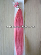 "red micro beads hair extension 18"" 8-32inch"