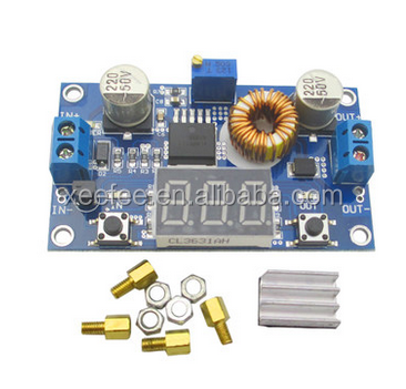 5a high-power 75W DC - DC adjustable step-down LM2596 stabilized voltage supply module with voltage meter display